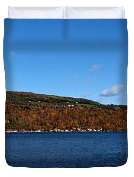 Autumn In The Finger Lakes Duvet Cover