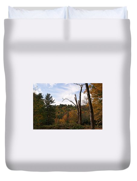 Autumn In The Hills Duvet Cover