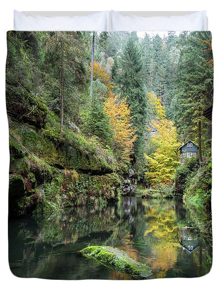 Autumn In The Kamnitz Gorge Duvet Cover