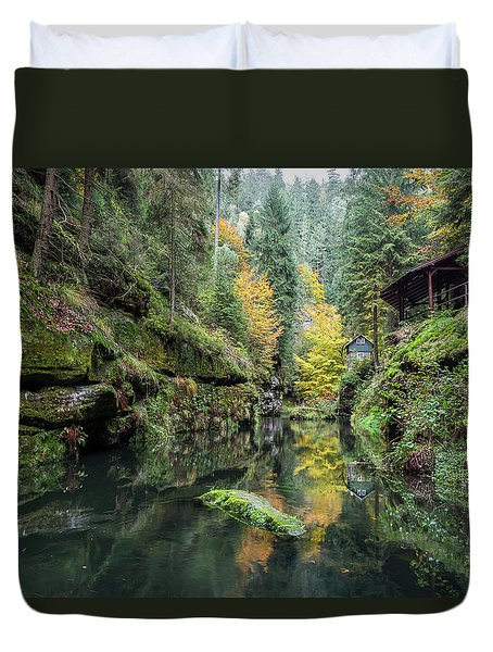 Autumn In The Kamnitz Gorge Duvet Cover by Andreas Levi
