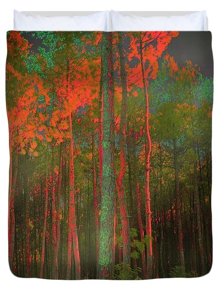 Duvet Cover featuring the photograph Autumn In The Magic Forest by Mimulux patricia no No