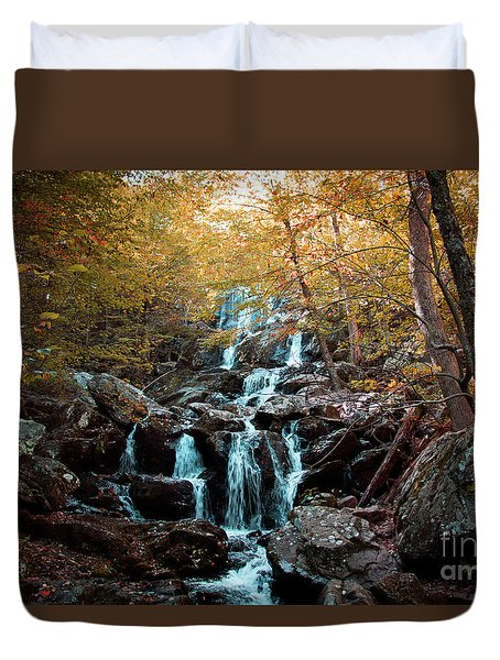 Autumn In The Mountains Duvet Cover by Rebecca Davis