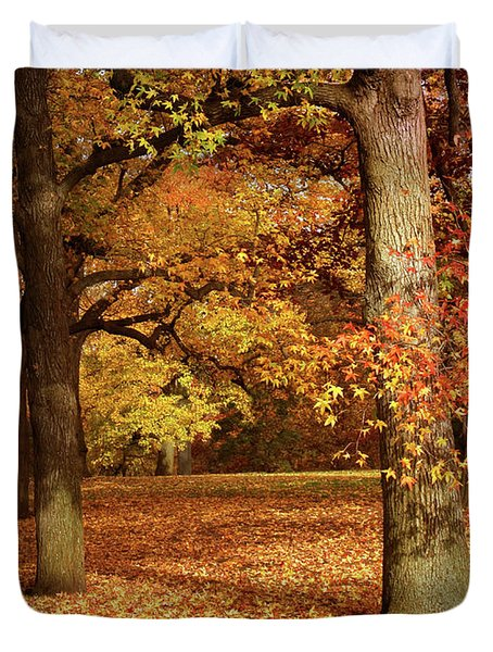 Autumn In The Orchard Duvet Cover