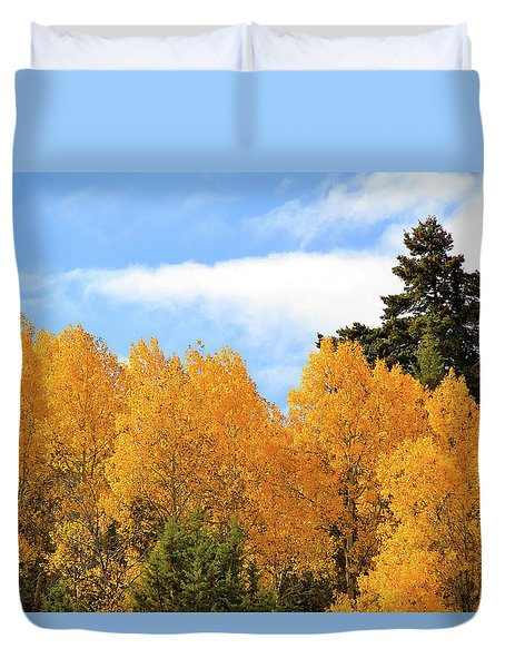 Autumn In The Owyhee Mountains Duvet Cover