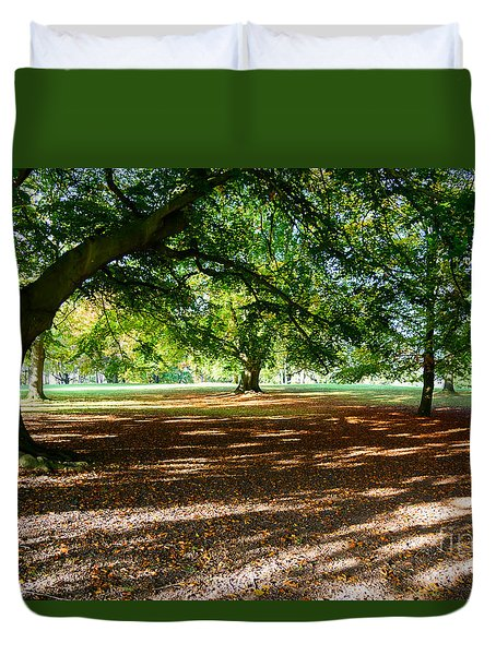 Autumn In The Park Duvet Cover