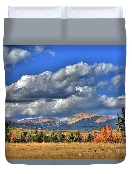 Autumn In The Rockies Duvet Cover