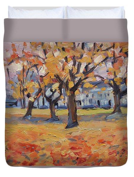 Autumn In The Villa Park Maastricht Duvet Cover