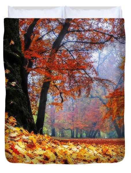 Autumn In The Woodland Duvet Cover