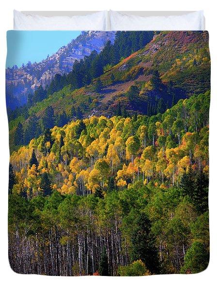 Autumn In Utah Duvet Cover