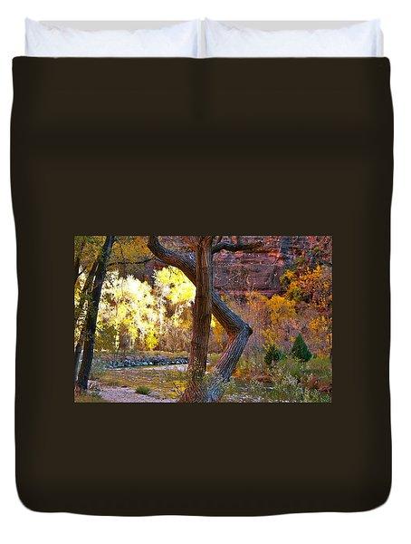 Autumn In Zion Duvet Cover