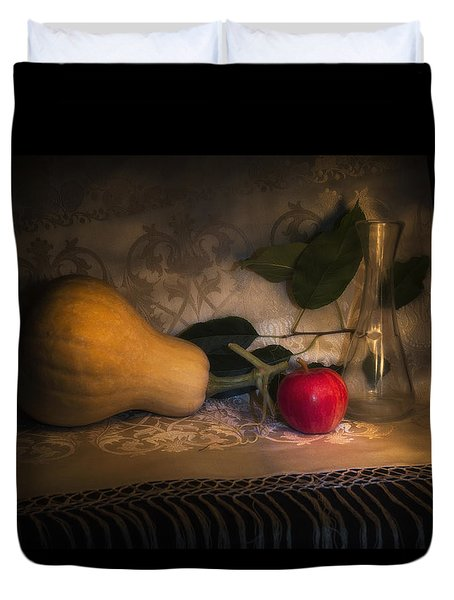 Duvet Cover featuring the photograph Autumn Is Coming by Raffaella Lunelli