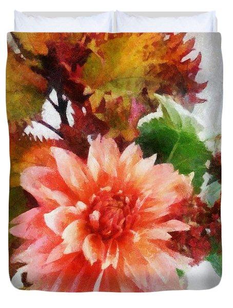 Autumn Joy Duvet Cover by Michelle Calkins
