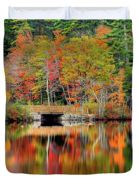 Autumn Lake Chocorua Duvet Cover