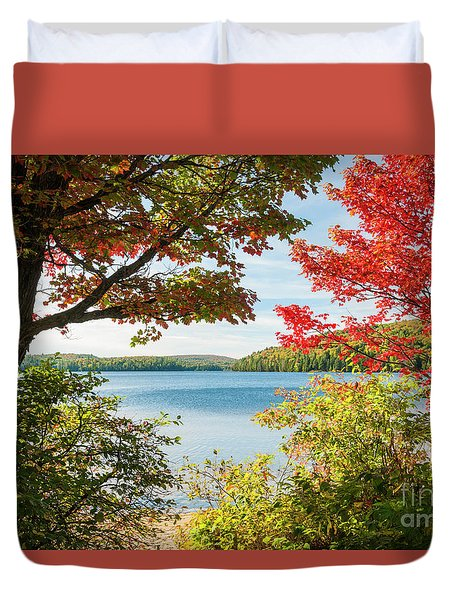Duvet Cover featuring the photograph Autumn Lake by Elena Elisseeva