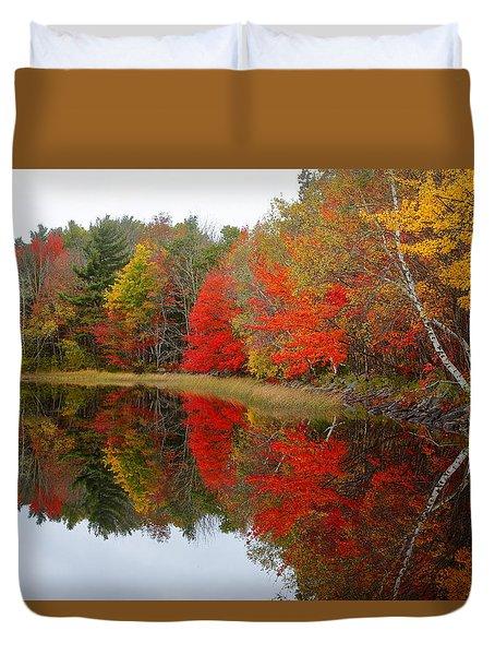 Autumn Lake, Nova Scotia Duvet Cover