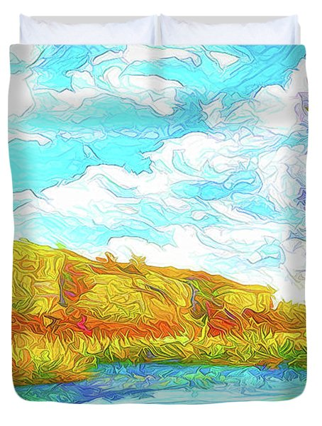 Autumn Lake Reflections - Park In Boulder County Colorado Duvet Cover by Joel Bruce Wallach