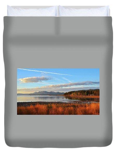 Autumn Lake Tahoe Duvet Cover