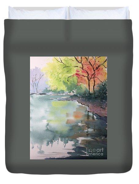 Autumn Lake Duvet Cover by Yohana Knobloch