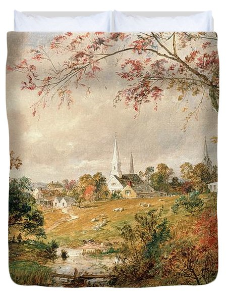 Autumn Landscape Duvet Cover
