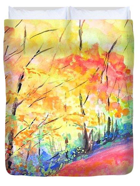 Autumn Lane Iv Duvet Cover by Lizzy Forrester