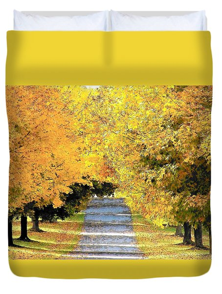 Autumn Lane Duvet Cover
