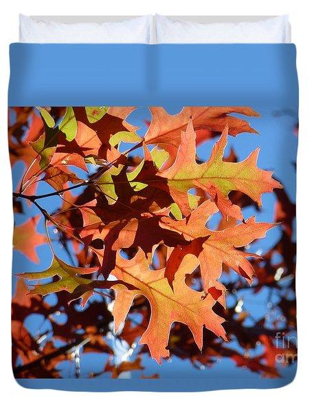 Autumn Leaves 17 Duvet Cover by Jean Bernard Roussilhe