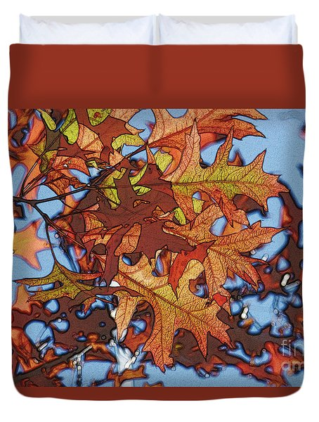 Autumn Leaves 17 - Variation  2 Duvet Cover by Jean Bernard Roussilhe