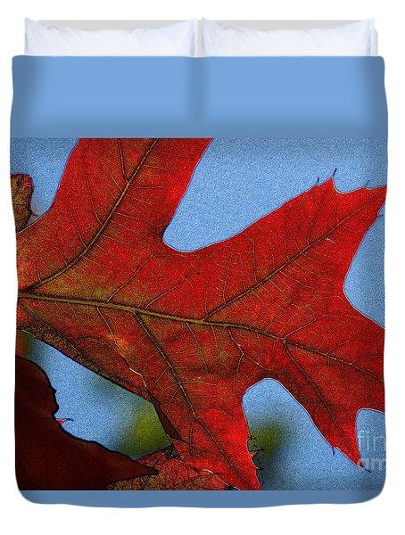 Autumn Leaves 18 Duvet Cover by Jean Bernard Roussilhe