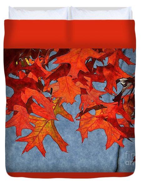 Autumn Leaves 19 Duvet Cover by Jean Bernard Roussilhe