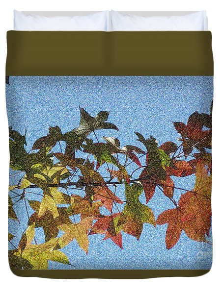 Duvet Cover featuring the photograph Autumn Leaves 3 by Jean Bernard Roussilhe