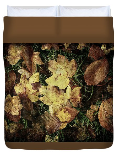Autumn Leaves Are Falling Down... Duvet Cover