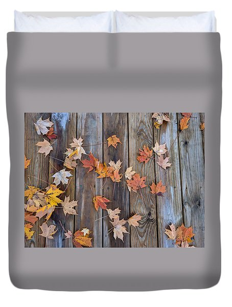 Autumn Leaves Fall Duvet Cover