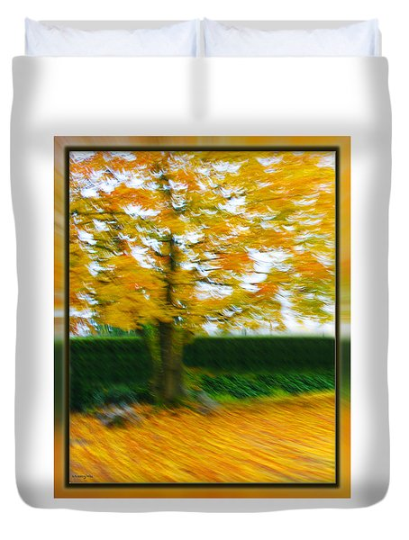 Autumn, Leaves Duvet Cover