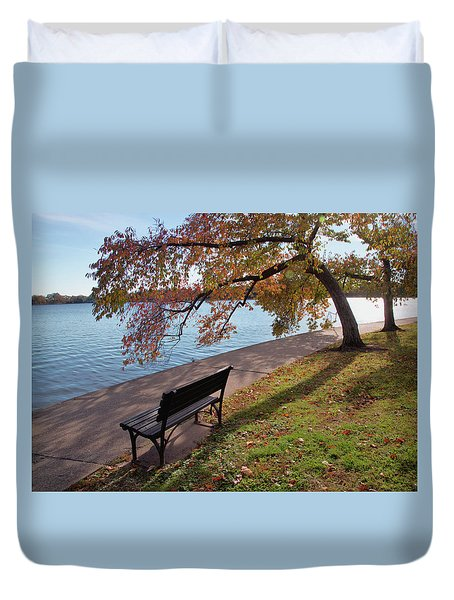 Autumn Leaves In Dc Duvet Cover