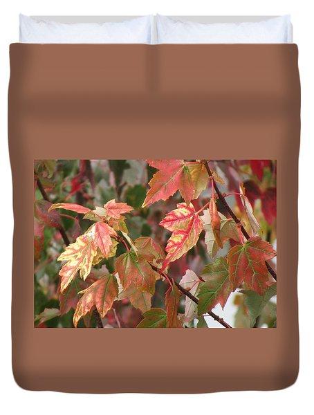 Autumn Leaves In Skagit County Duvet Cover