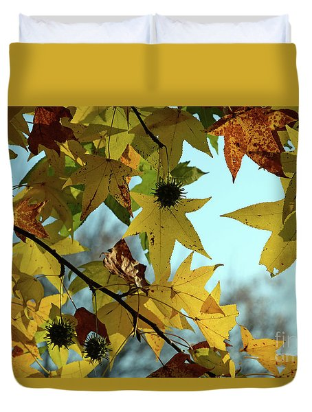 Autumn Leaves Duvet Cover by Joanne Coyle