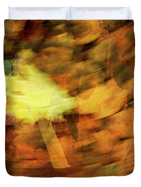 Autumn Leaves Duvet Cover by Michael Mogensen