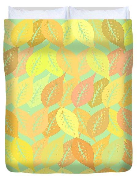 Autumn Leaves Pattern Duvet Cover