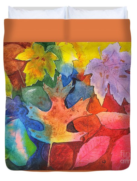 Autumn Leaves Recycled Duvet Cover