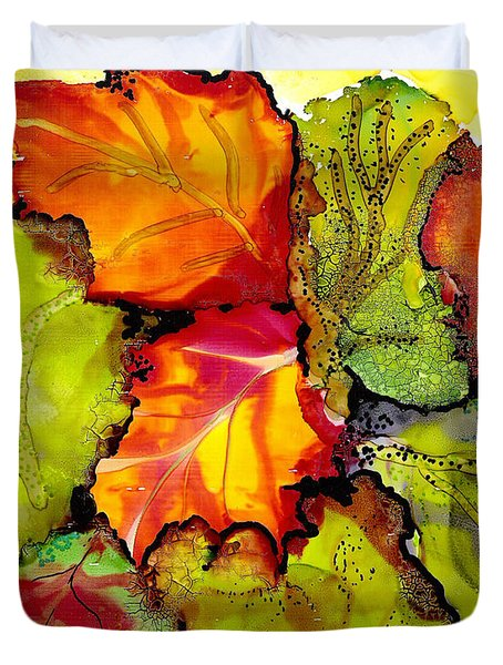 Autumn Leaves Duvet Cover by Susan Kubes