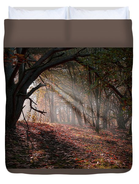 Duvet Cover featuring the photograph Autumn Light  by Scott Carruthers
