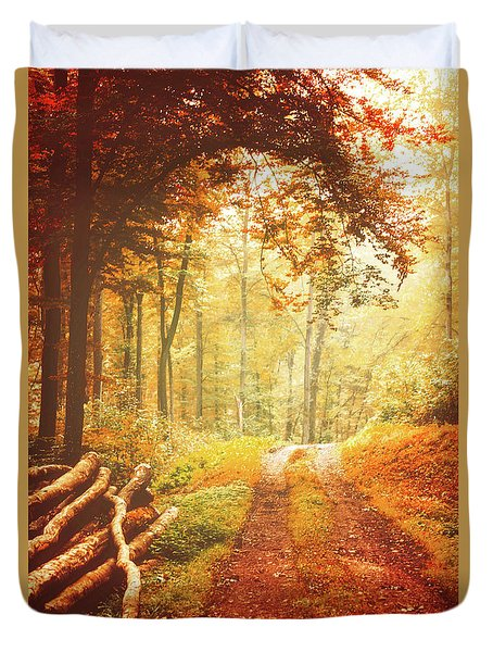 Autumn Lights Duvet Cover