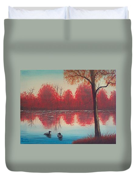 Autumn Loons Duvet Cover