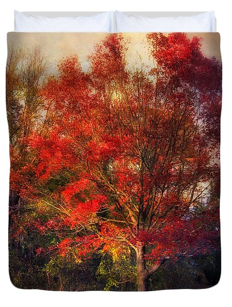 Autumn Maple Duvet Cover by Jessica Jenney
