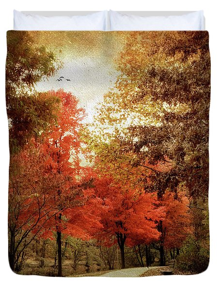 Autumn Maples Duvet Cover by Jessica Jenney
