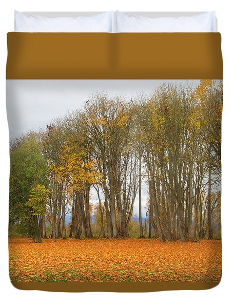 Autumn Maples Duvet Cover