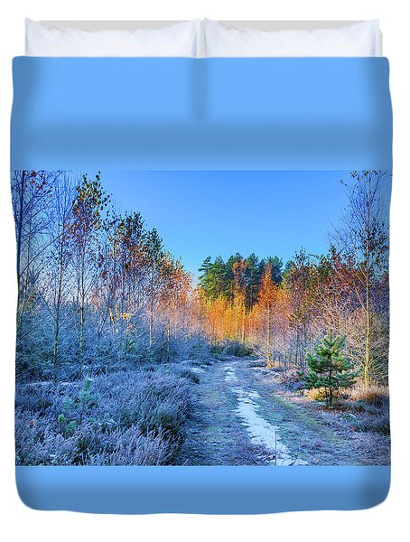 Autumn Meets Winter Duvet Cover