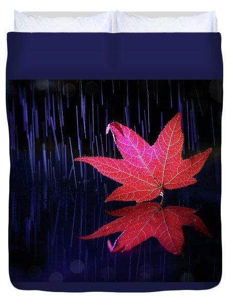 Autumn Message Duvet Cover