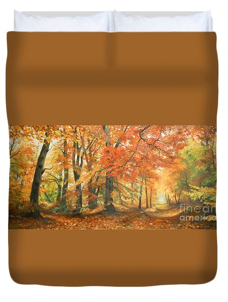Autumn Mirage Duvet Cover