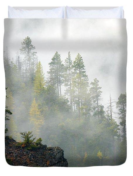 Autumn Mist Duvet Cover by Mike  Dawson